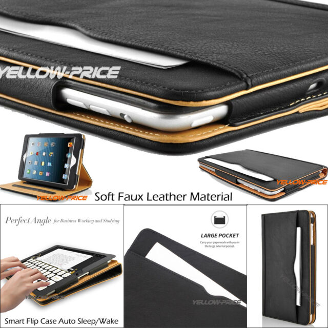 iPad 2/3/4 Soft Leather Wallet Business Professional Case Smart Cover Stand Case