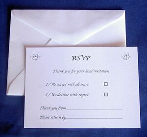 Image Is Loading 25 Rsvp Cards Amp Envelopes Wedding Reception Anniversary