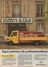 Publicité Advertising  //    MERCEDES BENZ 409 D  utilitaire léger