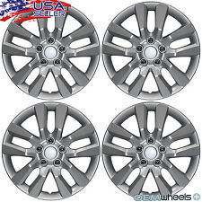 """4 NEW OEM SILVER 16"""" WHEEL COVERS SET HUB CAPS FITS NISSAN SUV CAR ABS CENTER"""