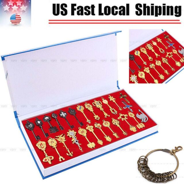 FAIRY TAIL Cosplay LUCY CELESTIAL Necklace Constellation 24 PCS Key Anime Gifts