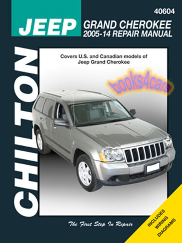 GRAND CHEROKEE SHOP MANUAL SERVICE REPAIR BOOK CHILTON JEEP HAYNES 2005-2014