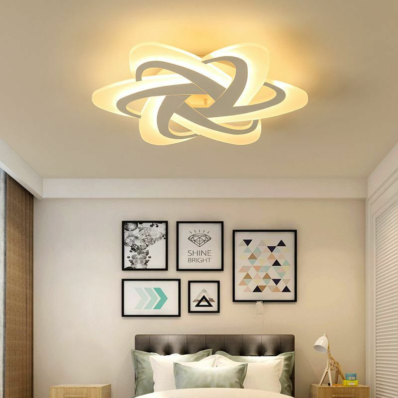Led Chandelier Bedroom Study Room Gleam Modern Remote Controlled Lighting Decors