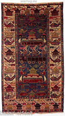 210x120 cm old original Afghan War rug Kriegteppich Afghanistan orientteppich 14