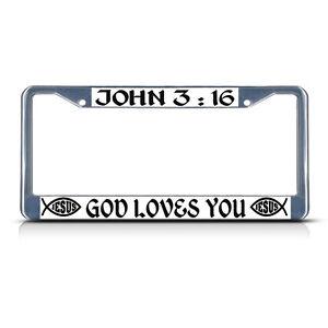 JOHN 3:16 JESUS LOVES YOU License Plate Frame