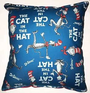 Cat-in-the-Hat-Pillow-HANDMADE-In-USA-Dr-Suess-Pillow