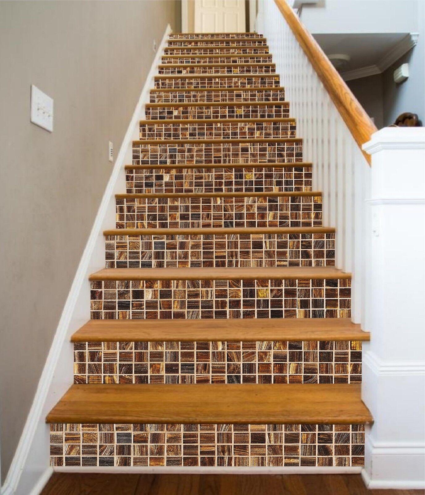 3D Mosaik Fliese 8 Fliese Marmor Stair Risers Fototapete Vinyl Aufkleber Tapete