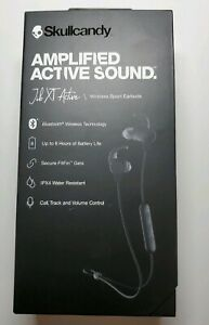 New-SKULLCANDY-JIB-XT-Active-Wireless-Sport-Earbuds-Amplified-Active-Sound-Black