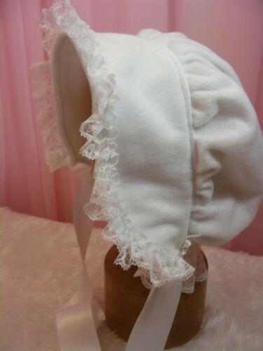 Adulte Bébé Sissy Bonnet Doux Blanc polaire cosplay lolita robe fantaisie rollplay