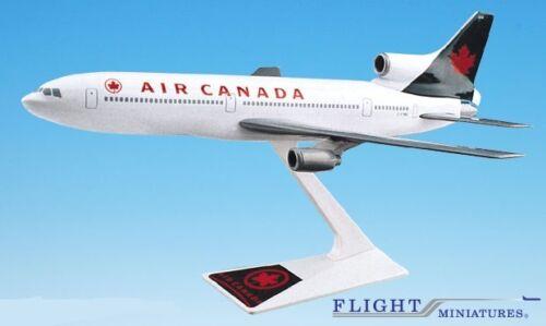 L-1011 Airplane Miniature Model Snap Fit Kit 1:250 ALK-10110I Air Canada 94-04