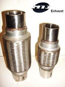 """MILD STEEL 2.25/"""" x 14/"""" 57 x 350mm Exhaust Flexi Pipe Cat Repair Flexible Joint"""
