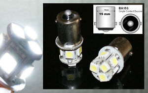 2-ampoules-a-LED-smd-Feux-de-Position-Veilleuses-blanc-BA15s-R5W