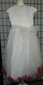 dbc6fd54064 Image is loading Us-Angels-White-Flower-Girl-Special-Occasion-Red-