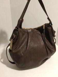 Image is loading Chocolate-Brown-Leather-Botkier-Beck-Hobo-Handbag 5876e8c143