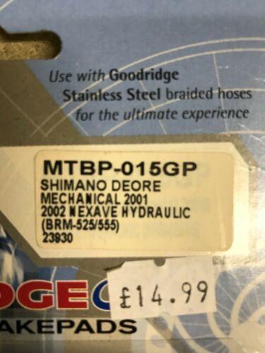 goodridge Shimano deore nexave brake pads brm 525//555 rrp £14.99