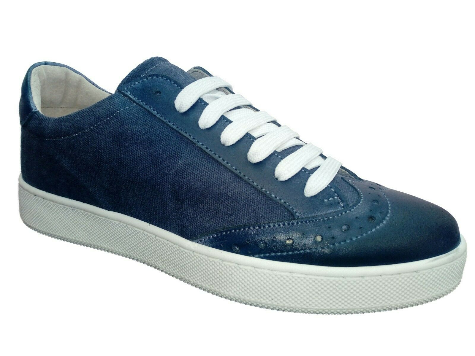 shoes da men Casual tg 42 WEENCHESTER made in  in tessuto e pelle blue