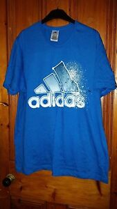 Mens /teenager/ Boys Adidas T Shirt Blue Plus Free Black One Both Size Xl A Plastic Case Is Compartmentalized For Safe Storage Men's Clothing