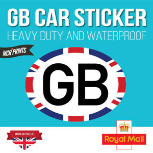 GB-CAR-STICKERS-Oval-Euro-Car-Van-Lorry-Vinyl-Self-Adhesive-180mm-x-133mm