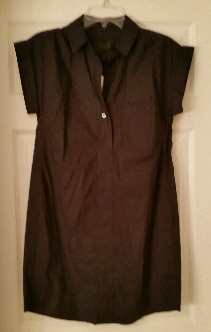 J Crew damen Short-sleeve cotton shirtdress   C4230 schwarz XXS Above Knee