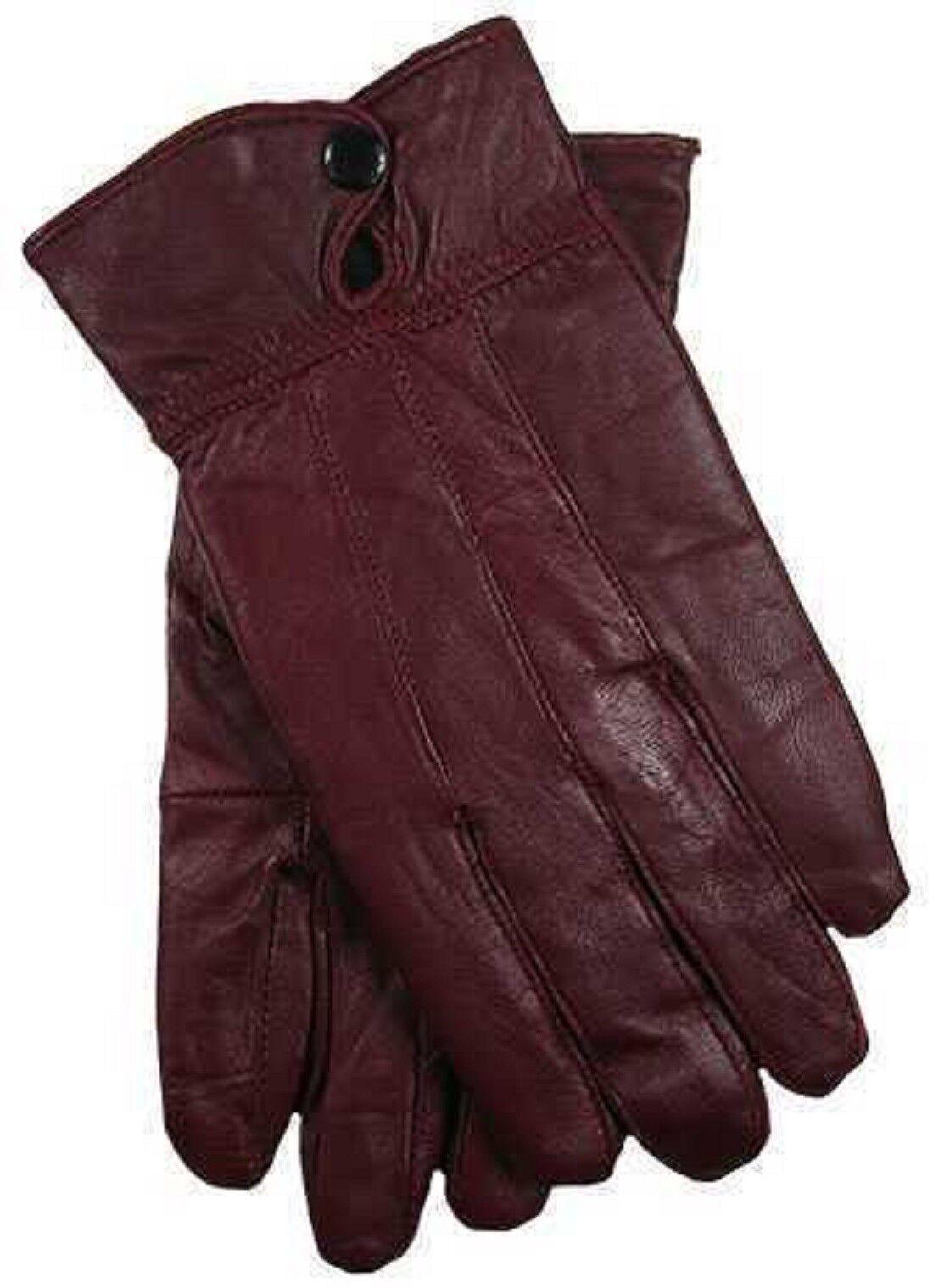 Ladies 100% Genuine Sheepskin Leather Lined Gloves Driving Dress Winter Warm