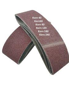 Gewebe Schleifbänder 75 x 457 mm Korn 40-240 Schleifband Schleifpapier schleifen