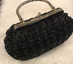 Vintage-Black-Straw-Raffia-Purse-By-Gaymode