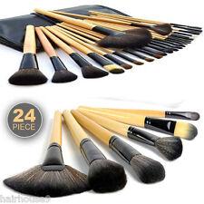 Profesional 24 Piezas Mango De Madera De Cosméticos Pinceles De Maquillaje Kit Con Funda
