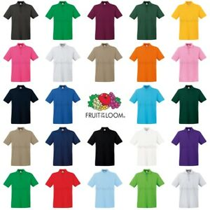Image is loading Fruit-of-the-Loom-Premium-Polo-Shirt 297ceaaa3e33c