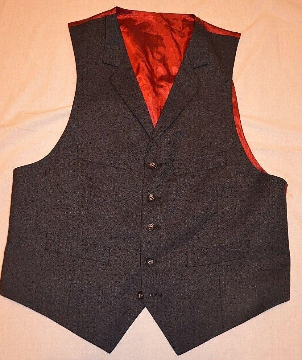 Hardy Amies -London Smart Designer Grey Herringbone Waistcoat