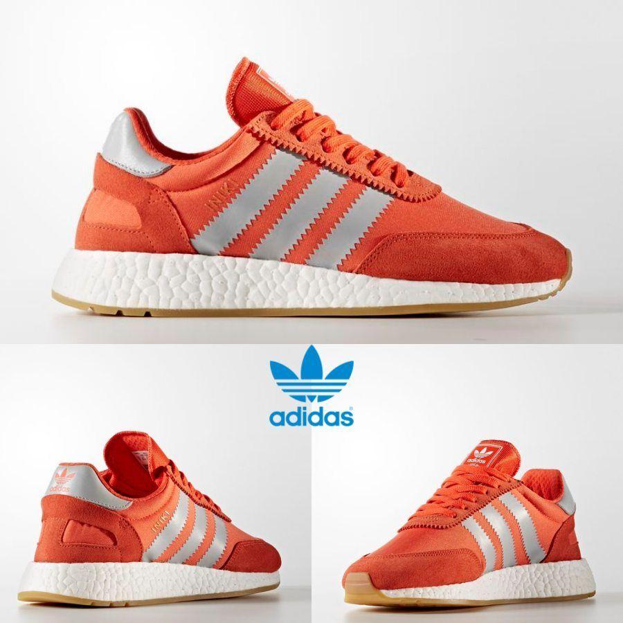 Adidas Originals INIKI courirner chaussures athlétique fonctionnement Orange Gris BA9998 SZ 4-13