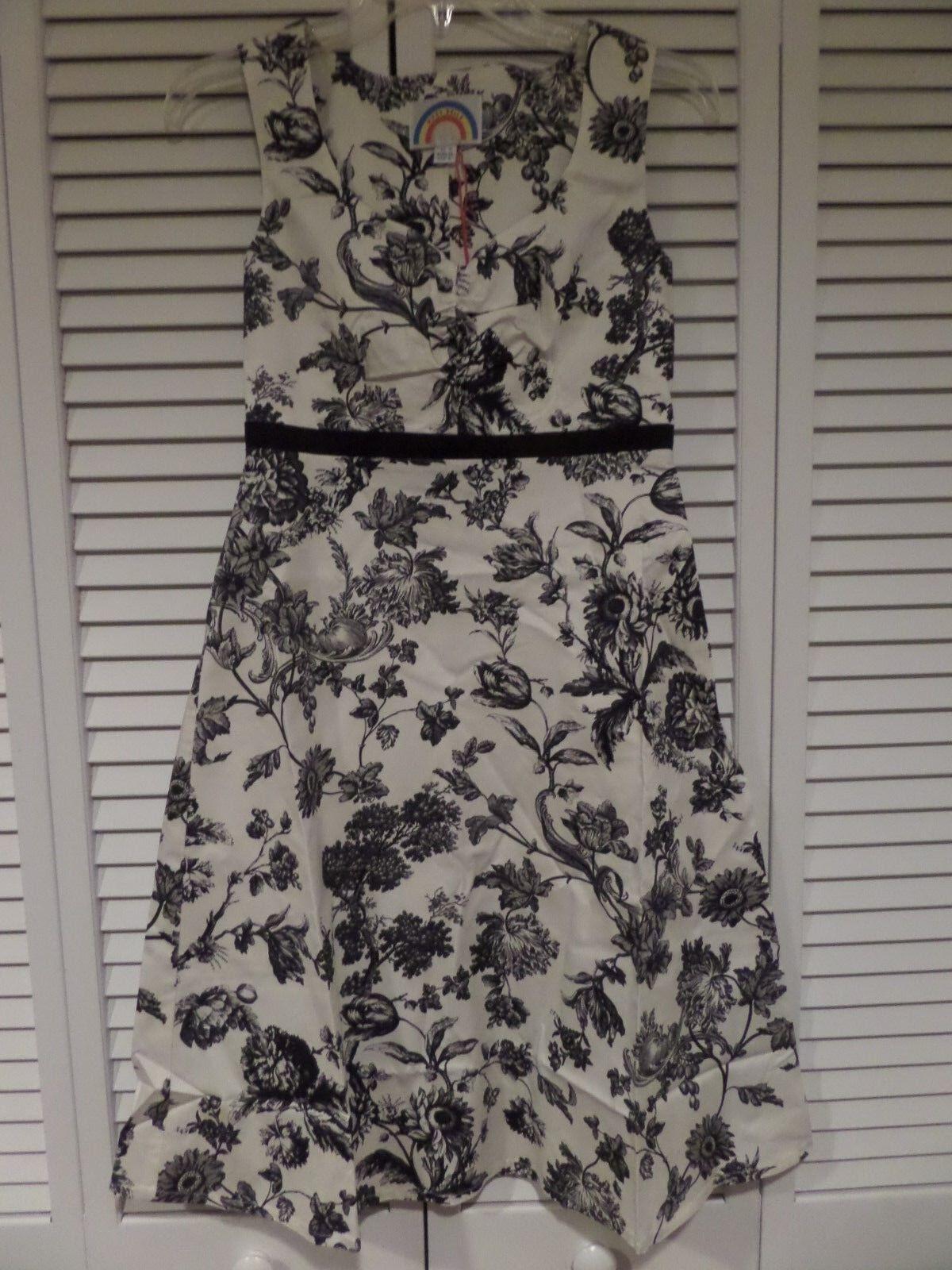 NWT Ruby Belle Lithco Sweetheart Dress schwarz Weiß Sz 6 US () Must Read HOT