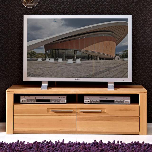 tv board nature plus tv element 130 wohnzimmer media mobel kernbuche teilmassiv