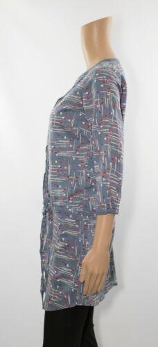 ex White Stuff Abstract Print Self Tie Tunic Dress
