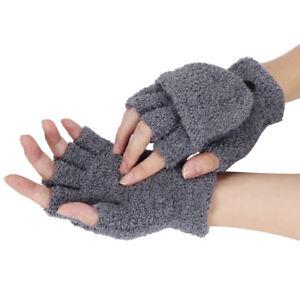 d3aba2a81 Womens Girls Gloves Hand Wrist Warm Winter Fingerless Working Gloves ...