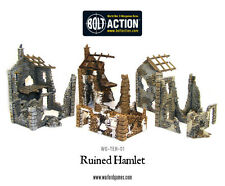 Ruined Hamlet - WW2 Scenery - Three Buildings - Bolt Action 28mm - 1/56th
