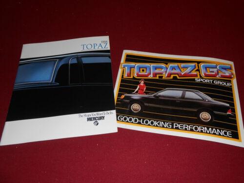 1988 MERCURY TOPAZ BROCHURE CATALOG 2 for 1 DEAL! 88 SPORT GROUP BIG POSTCARD