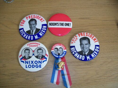 American Political badgespins Nixon Bush Clinton etc Large lot approx 400
