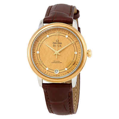 Omega De Ville Automatic Diamond Champagne Dial Ladies Watch 424.23.33.20.58.001
