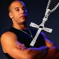 "THE FAST and THE FURIOUS Movie CROSS PENDANT 26"" Chain Necklace cool"