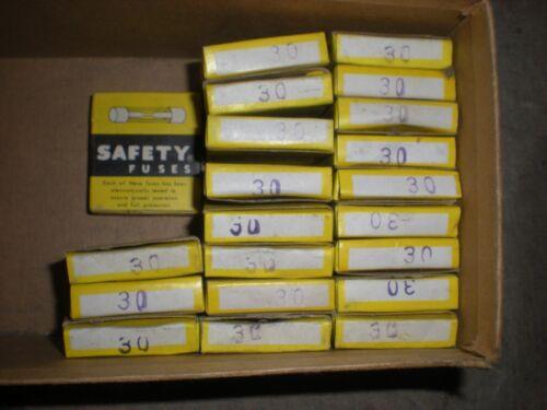 box of 5 NOS 30 amp Fuse x 5 Honda Yamaha Kawasaki Suzuki BMW 25mm 5 count