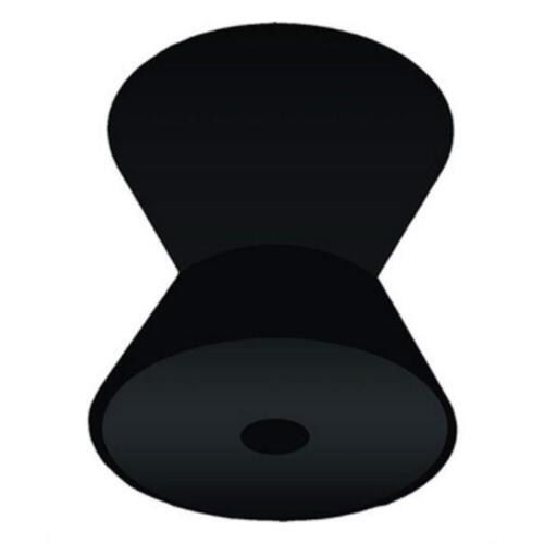 "BOAT MARINE TRAILER BOW V ROLLER 4/"" WIDE 1//2/"" DIAMETER SHAFT BLACK RUBBER"