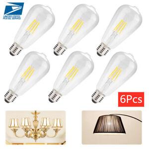 6PCS-E26-4W-2700K-Dimmable-LED-Light-Bulb-Set-Vintage-Glass-Cover-Filament-Bulbs