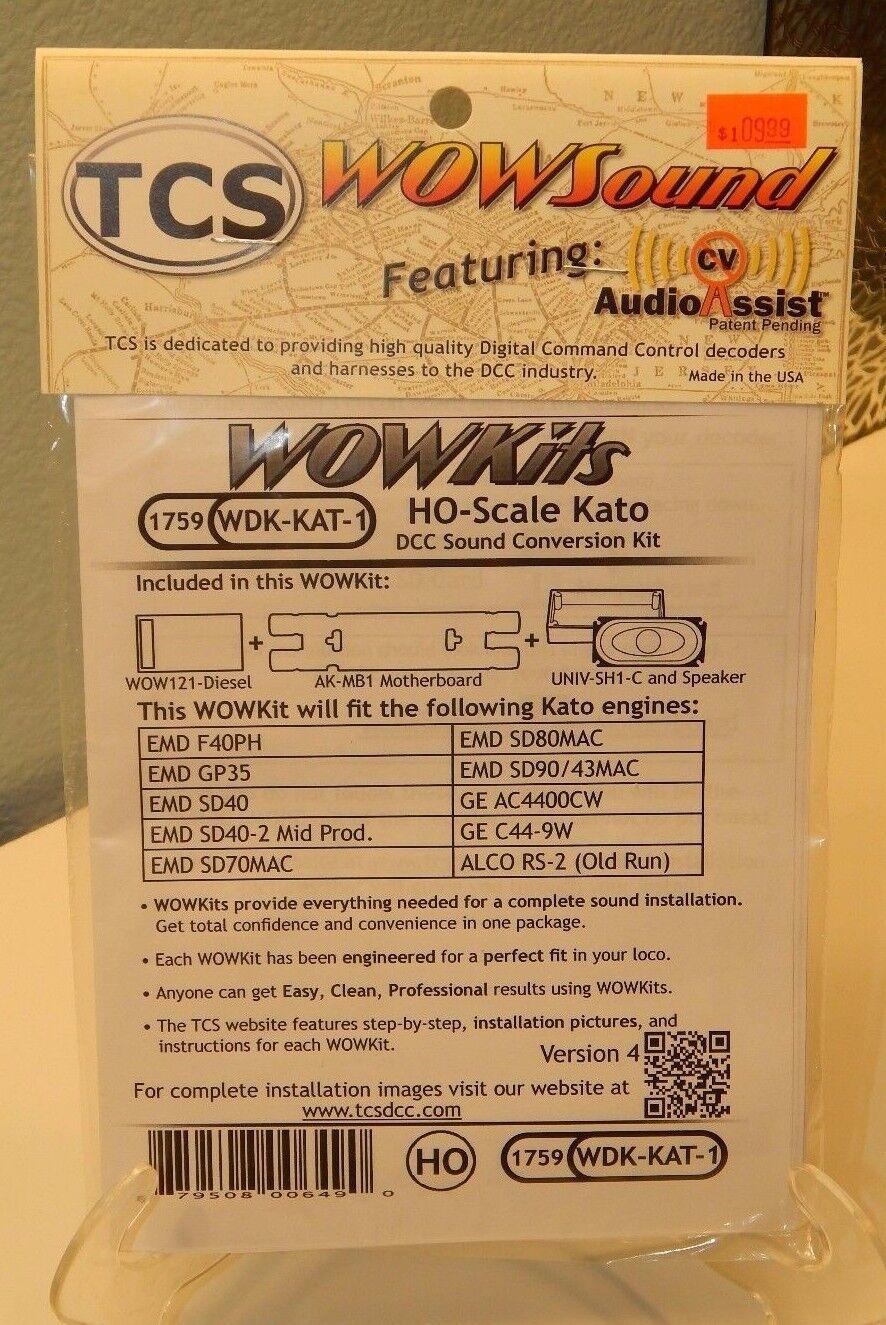 TCS  1759 WDK-KAT-1 wowkit DCC sonido Kit de Conversión Nuevo