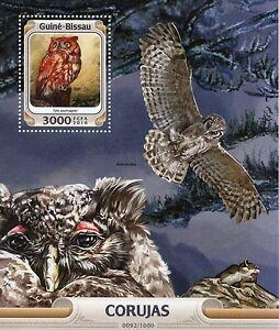 guinea bissau 2016 mnh owls 1v s s birds red owl stamps ebay