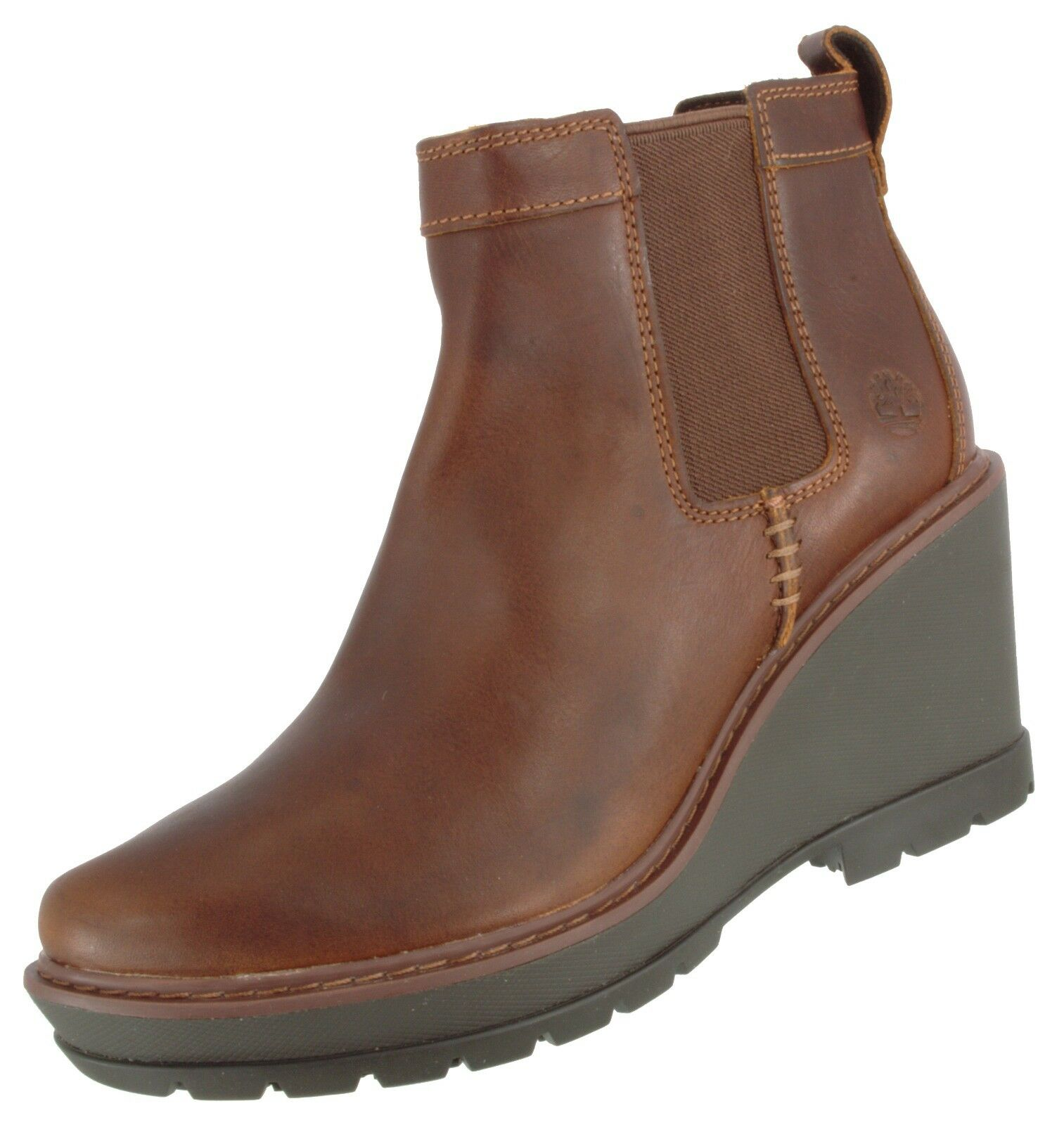 TIMBERLAND CHELSEA DEFECT SAMPLE WOMEN'S KELLIS WEDGE GORE CHELSEA TIMBERLAND LEATHER BOOT US 7 178e8c