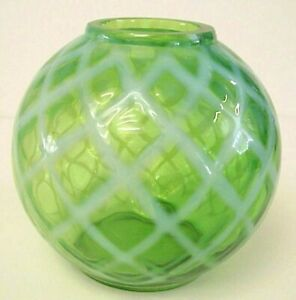 Fenton-Art-Glass-Green-Diamond-Optic-Ivy-Bowl-Made-ca-1952