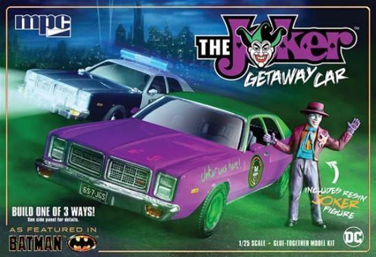 MPC 1 25 Batman The Joker Getaway Car 1978 Dodge Monaco with Joker Figure