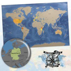 Rubbelkarte Rubbel Mich Weltkarte Xxl Karte Landkarte Welt Reise
