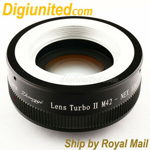 Zhongyi-Lens-Turbo-II-Reducer-Booster-M42-mount-to-Sony-E-Adapter-NEX-7-5T-A6000