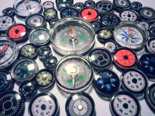 5 pcs Mixte Boussole Compas brujula Compass Bussola Compasso 1,2-4cm